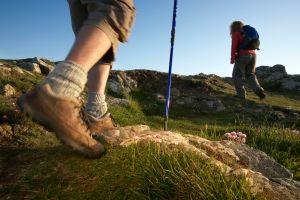 Hikers on the South West Coast path near Polzeath, Cornwall. Photographer Richard Taylor.